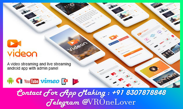 Onilne Video and Movie Streaming Android App Code with Admin Panel
