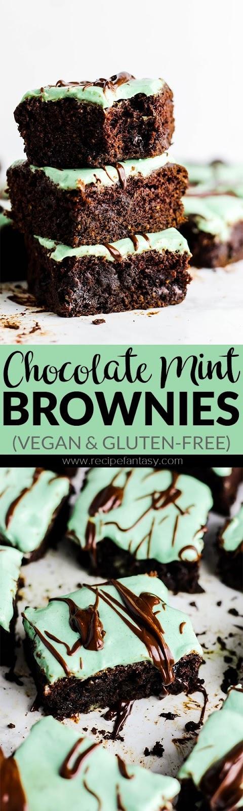 Chocolate Mint Brownies (vegan & gluten-free)