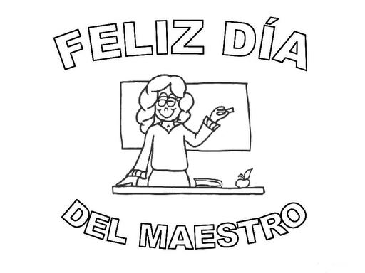 Pinto Dibujos Día Del Maestro Dibujos Para Colorear De Precious