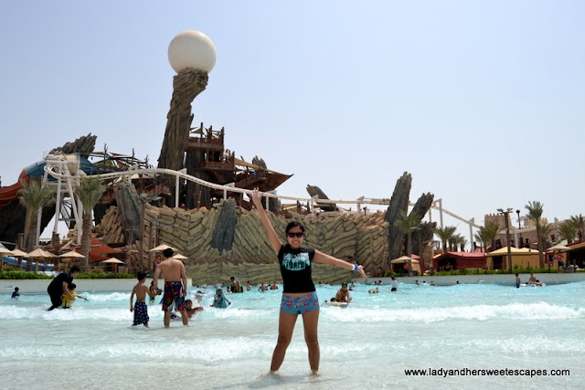 Amwaj beach at Yas Waterworld