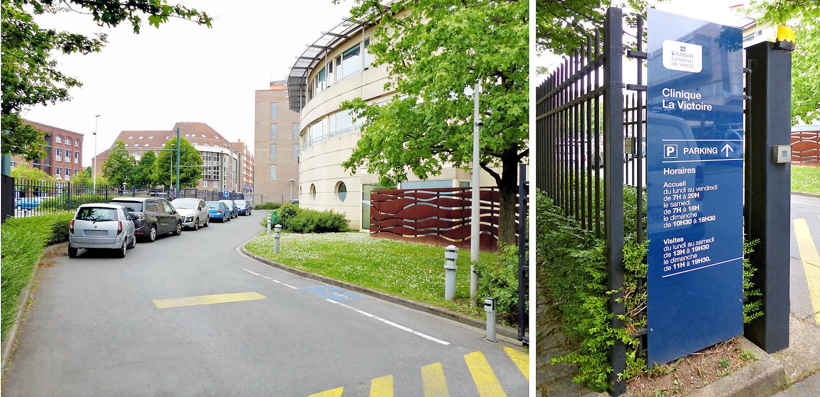 Clinique de la Victoire, Tourcoing - Entrée du Parking