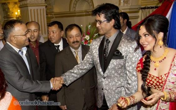 rajesh hamal and madhu bhattarai wedding