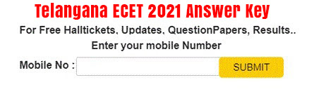 TS Ecet Answer Key 2021