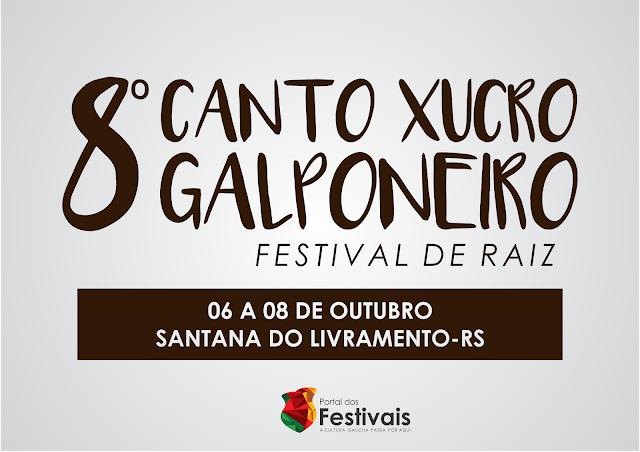 8º Canto Xucro Galponeiro acontecerá de 06 a 08 de outubro