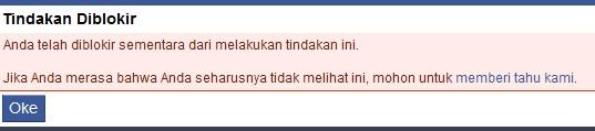 Blokir Sementara Facebook