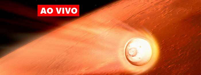 ao vivo pouso da sonda Perseverance em Marte