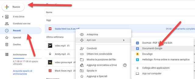 apertura pdf con documenti google