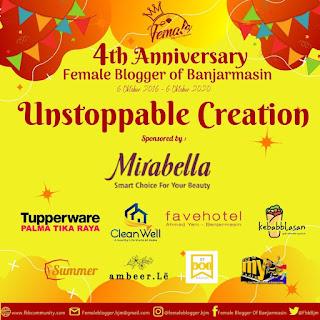 ultah ke-4 Female Blogger of Banjarmasin