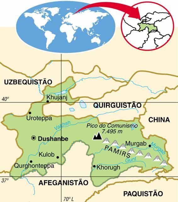 TAJIQUISTÃO - ASPECTOS GEOGRÁFICOS E SOCIAIS DO TAJIQUISTÃO