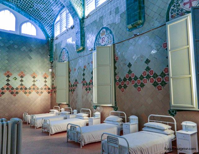 Enfermaria do Hospital de la Santa Creu i Sant Pau, em Barcelona