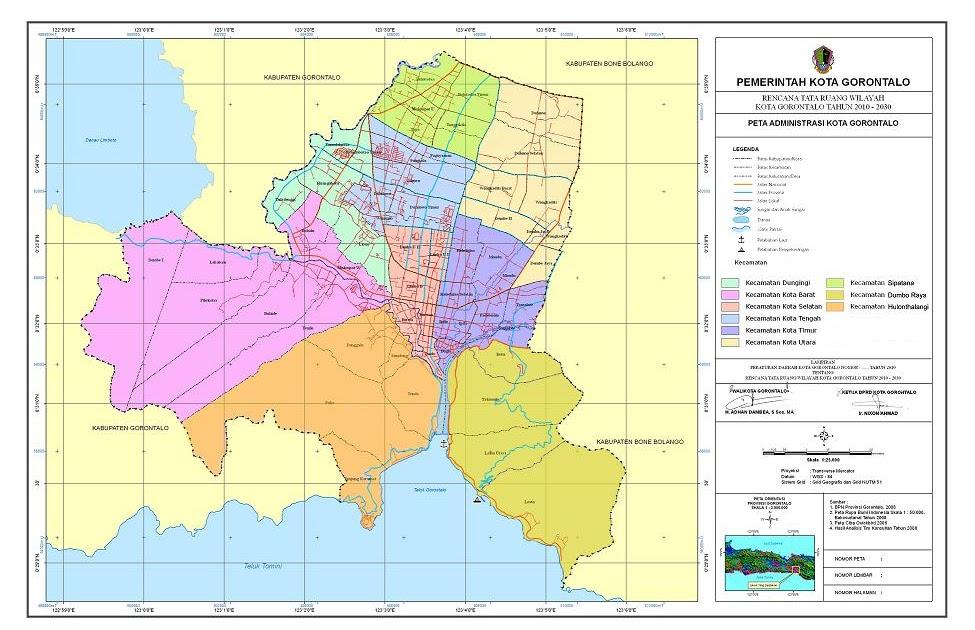 BAPPEDA Kota Gorontalo: Peta Administrasi Kota Gorontalo