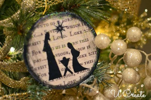 Nativity Ornament Tutorial by U Create