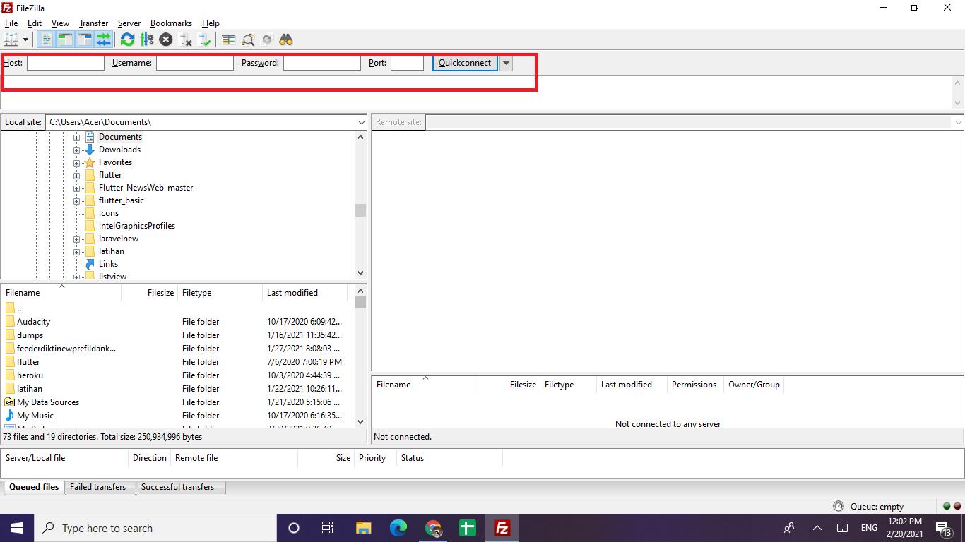 cara menggunakan filezilla di windows