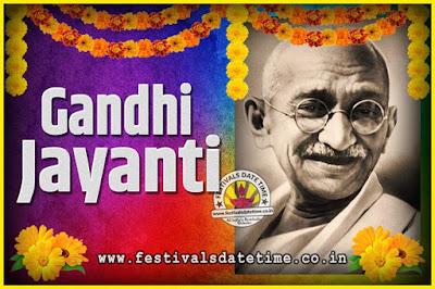 2035 Gandhi Jayanti Date and Time, 2035 Gandhi Jayanti Calendar