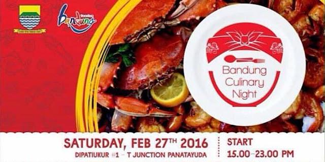 Event Bandung Culinary Night, 27 Februari 2016 di Jln. Dipatiukur