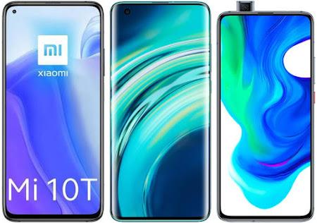 Xiaomi Mi 10T 128 GB vs Xiaomi Mi 10 128 GB vs Xiaomi Poco F2 Pro 256 GB