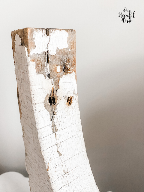 square head nail holes white corbel
