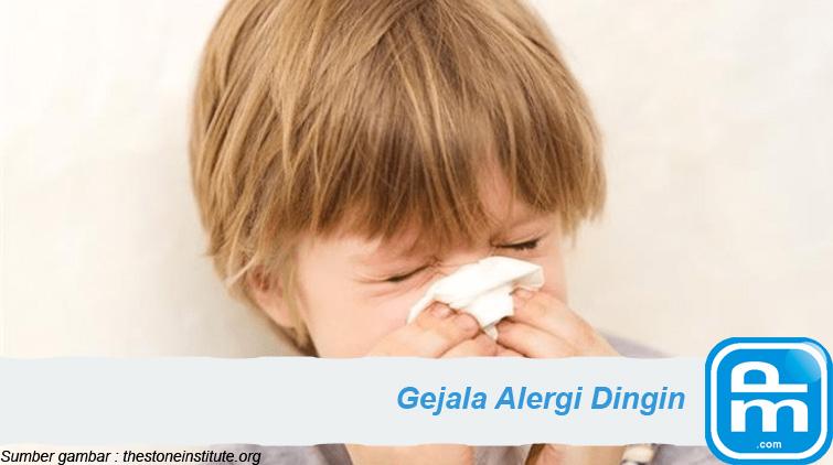 gejala alergi dingin