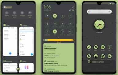 Download Tema Xiaomi MIUI 10 dan MIUI 11 Green Circle .mtz Tembus Sampai Aplikasi