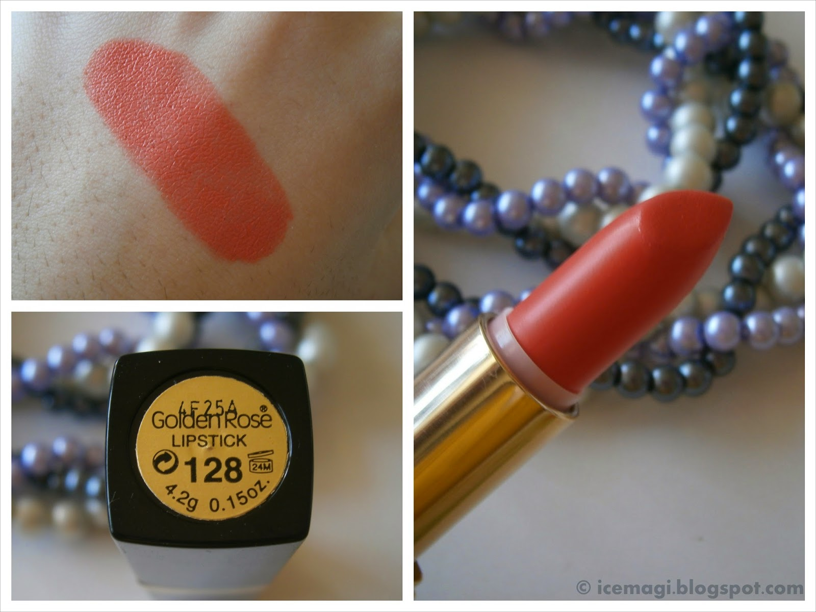 Golden Rose lipstick swatch