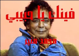كلمات اغنية فينك يا حبيبي محمد منير