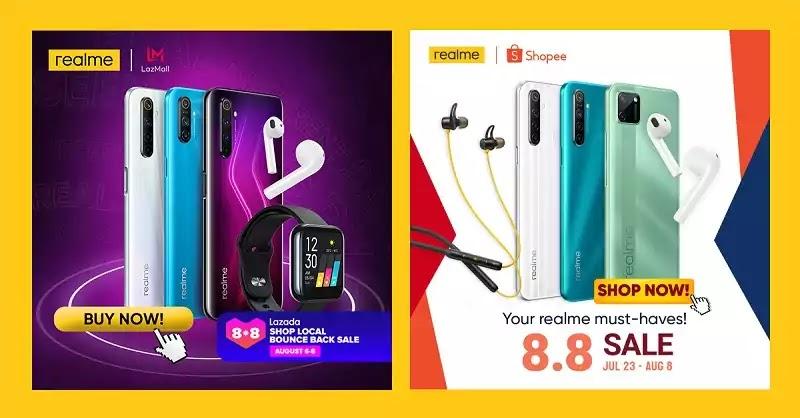 realme - Lazada and Shopee 8.8 Sale