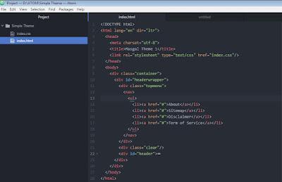 Belajar HTML Menggunakan Aplikasi Atom