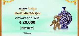 Amazon karigar Handicrafts Quiz