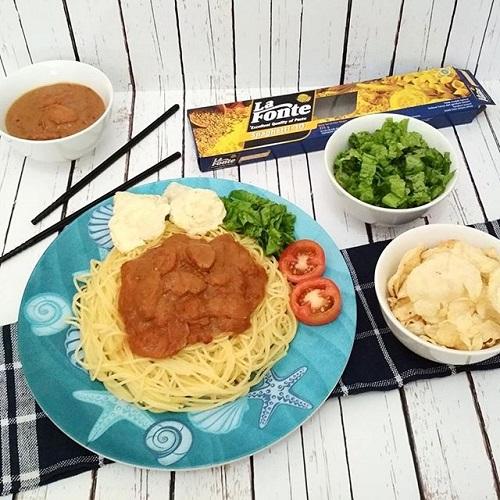 Resep La Fonte Spaghetti Sosis Bumbu Sate