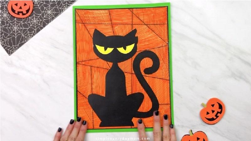 black cat process art activity