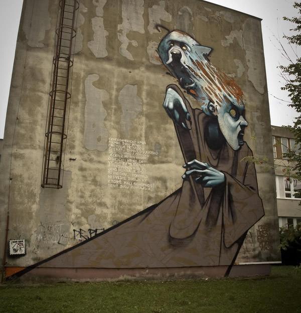 Grafiti atau Lukisan Dinding hantu atau ghoss