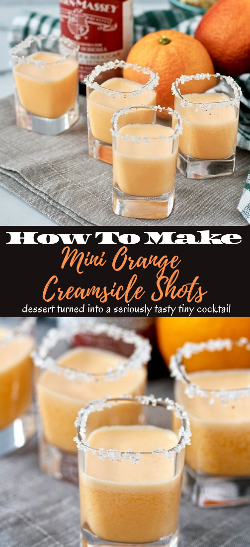 Mini Orange Creamsicle Shots  #healthydrink #easyrecipe #cocktail #smoothie