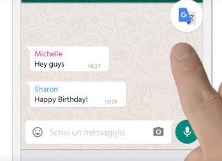 traduzione su whatsapp e messenger