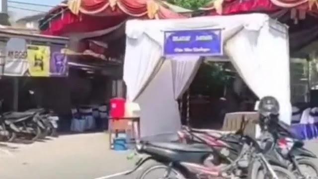 Viral Tenda Hajatan di Tengah Jalan