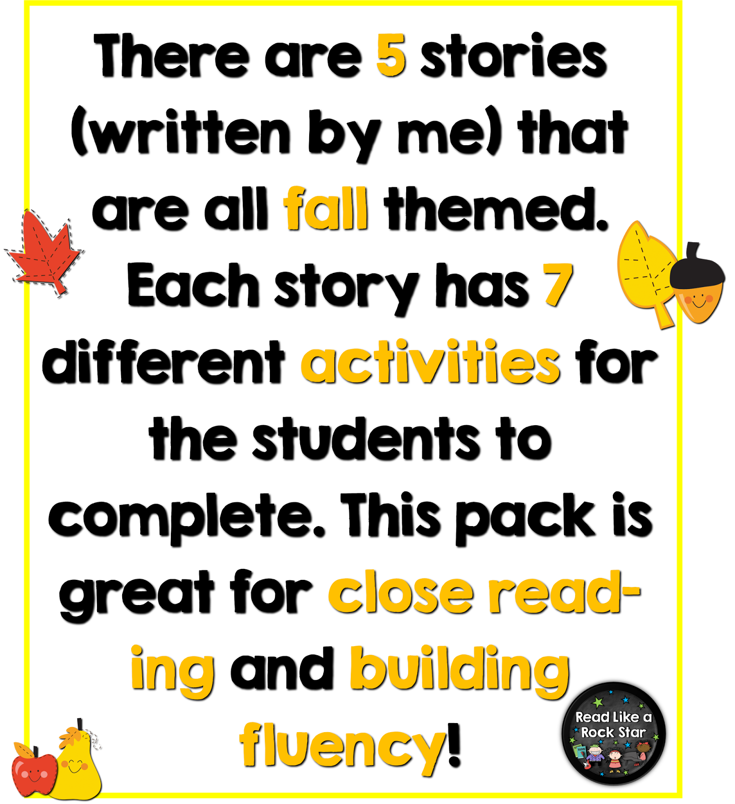 Read Like A Rock Star Fall Into Reading Fall Themed Books Passages And Activities To Keep