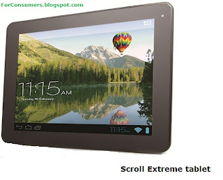 Scroll Extreme Android 4.0 tablet