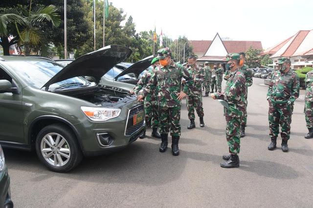 Wadan Pemeriksa Sejumlah Kendaraan Dinas Prajurit Di Mako Seskoad Bandung, Ini Tujuannya