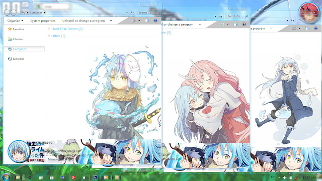 Download Windows 7 Theme Tensei shitara Slime Datta Ken, Download Windows 7 Theme Rimuru Tempest