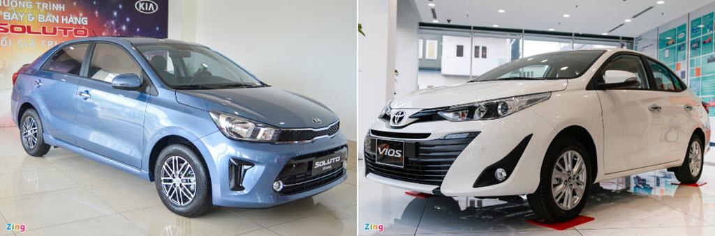 500 triệu đồng chọn Kia Soluto AT Luxury hay Toyota Vios 1.5E CVT?