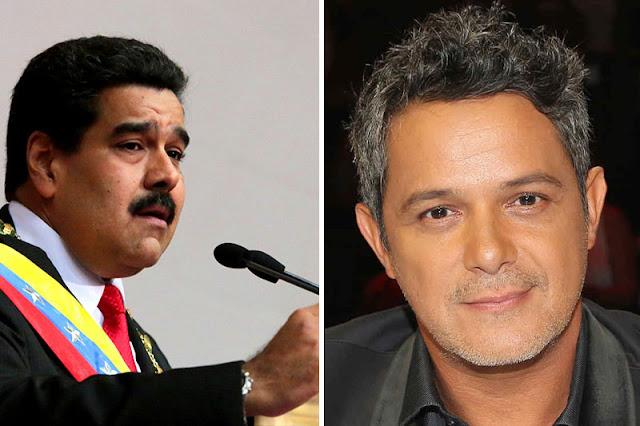Maduro dice que Alejandro Sanz le dejó el corazón partido
