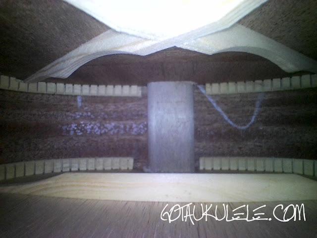 Donner DUC-1 Concert Ukulele inside