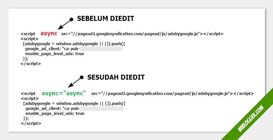 pasang kode iaklan tanpa parse