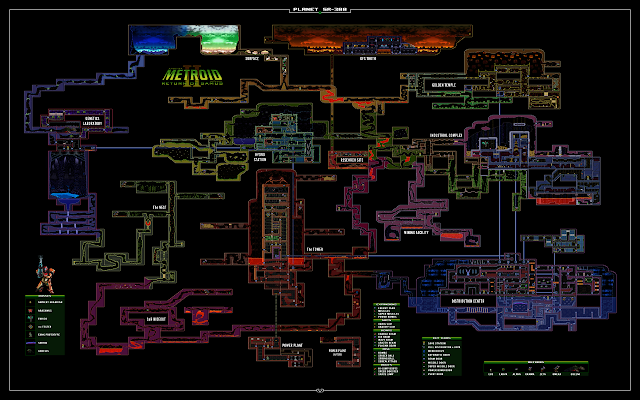 Another Metroid 2 Remake map