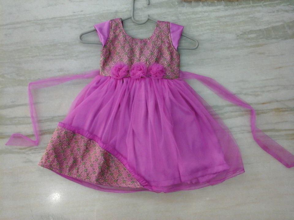 Sparkling Fashion Banaras Frocks Kids Frocks Baby Frocks