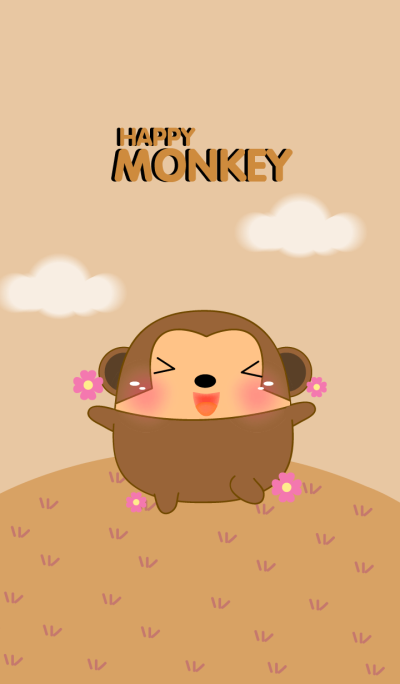 Happy Cute Fat Monkey Theme