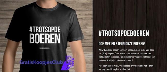 Gratis T-Shirt #TrotsOpDeBoeren