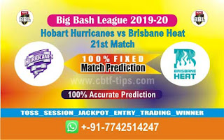 Who will win Today BBL T20, 21st Match Brisbane vs Hobart - Cricfrog