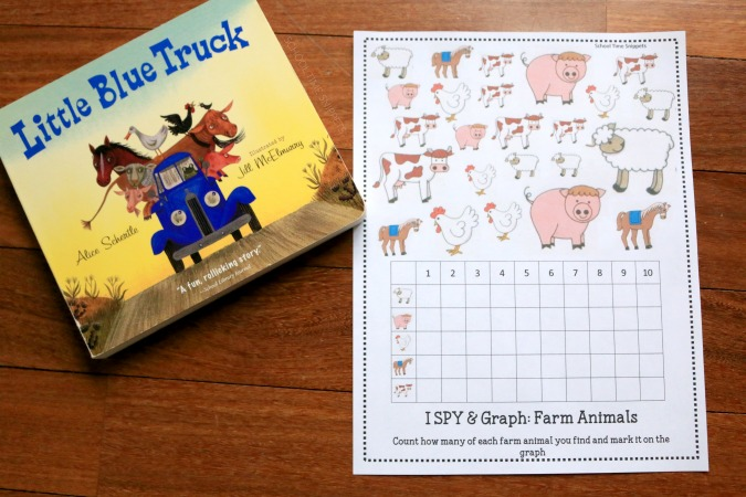 farm themed printable for kids