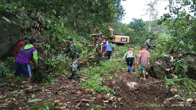 Bersama TNI, Antusias Warga Semakin Meningkat di Lokasi TMMD Kodim 1424/Sinjai
