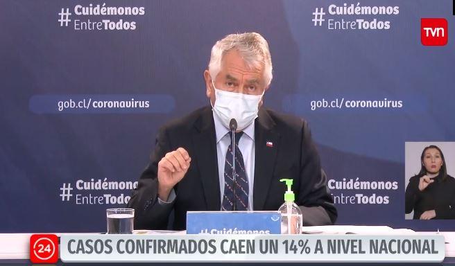 Tabla con las comunas de la Región Metropolitana que bajaron su tasa de contagio